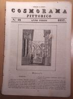1837 COSMORAMA PITTORICO ANNO TERZO N° 42 MONREALE LINGUAGGIO VENERE ANACREONTE PORCOSPINO Fascicolo Di 8 Pagine – Cm 19 - Libri, Riviste, Fumetti