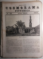 1837 COSMORAMA PITTORICO ANNO TERZO N° 44 EGITTO VENEZIA SALUTO ANELLI Fascicolo Di 8 Pagine – Cm 19,5 X 27,5 Tracce D'u - Libri, Riviste, Fumetti