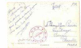 SUR CPSM BIZERTE : Cachet Rouge AFN SP 86038 LE VAGUEMESTRE - Marcophilie (Lettres)