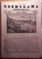 1837 COSMORAMA PITTORICO ANNO TERZO N° 49 ULMA LAGO SANTO VIENNA MUSULMANI ASTRACAN AVVOLTOIO MALAP-TERURA Fascicolo Di - Libri, Riviste, Fumetti