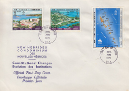 Enveloppe  FDC  1er Jour    NOUVELLES  HEBRIDES   1éres  Assemblées  Représentatives   1976 - FDC