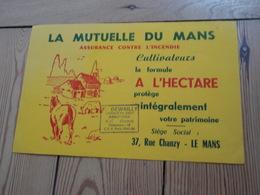 Buvard Assurance C/ L'incendie Cultivateurs La Mutuelle Du Mans. Tampon F.DEWAILLY Licencié En Droit Assureur à AULT 80 - Banque & Assurance