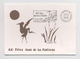 XXe FËTES JEAN DE LA FONTAINE - 1979 - Château Thierry - Carte Numérotée - Evénements