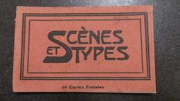 15 CPA Lot En Carnet MAROC SCENES ET TYPES - Marruecos