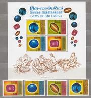 CEYLON SRI LANKA 1976 Gems MNH(**) Mi 456-459 Bl 6 #23918 - Sri Lanka (Ceylan) (1948-...)