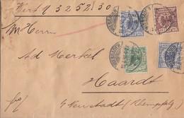 DR Wertbrief Mif Minr.46, 2x 48, 50 Wiesbaden 18.4.98 Gel. Nach Haardt - Deutschland