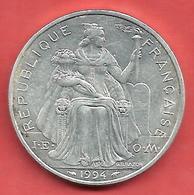 5 Francs , NOUVELLE CALEDONIE , Aluminium , 1994 , N° KM # 16 - Nouvelle-Calédonie