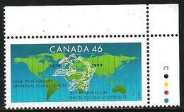 Canada 1999 Scott 1806 MNH UPU, Map - 1952-.... Regno Di Elizabeth II