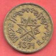 20 Francs , MAROC , Alu-Bronze , AH 1371 , N° KM # 50 - Colonies