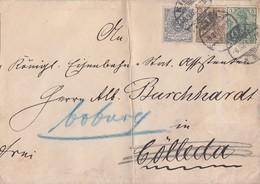 DR Brief Mif Krone & Adler, Germania Minr.52,54,55 Kiel 8.3.01 - Deutschland