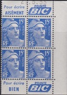 France  .   Yvert    .    886c  Bloc De 4    .   **  .    Neuf  SANS  Charniere  .   /   .    MNH - France