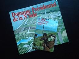 SOUVENIRS  Du ZAÏRE DEUX DÉPLIANTS DOMAINE PRÉSIDENTIEL DE LA N'SELE ET LE ZAÏRE TOURISTIQUE CONGO COLONIE  BELGIQUE - Dépliants Turistici