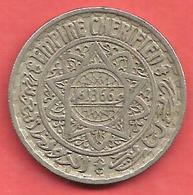 10 Francs , MAROC , EMPIRE CHERIFIEN  , Cupro-Nickel , AH 1366 , N° KM # 44 - Colonies