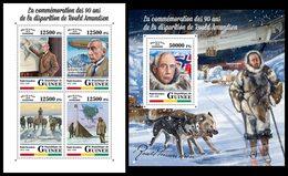 GUINEA 2018 - R. Amundsen - Mi 12855-8 + B2867; CV=40 € - Polarforscher & Promis