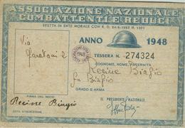 ASSOCIAZIONE NAZIONALE COMBATTENTI E REDUCI - 1948 - RAVENNA - Historische Dokumente