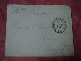 Tresor Et Postes 23   Cachet Franchise Postale Militaire Guerre 14.18 - Marcophilie (Lettres)