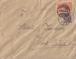 DR Werbebrief Fred Pelz Drucksache Mif Minr.251,268 Magdeburg 6.8.23 Gel. Nach Finnland - Briefe U. Dokumente