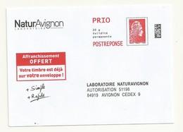 POSTREPONSE PRIO NATURAVIGNON  LOT 199732  NEUF SUPERBE - 2018-... Marianne L'Engagée
