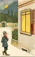 HOMBRE MIRA INTERIOR CASA POR UNA VENTANA / MAN LOOKS INSIDE HOUSE FOR A WINDOW. POSTAL HUMOR ILLUSTRATION - LILHU - Humour