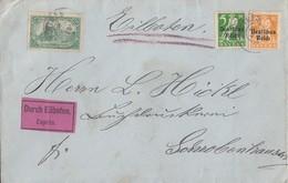 DR Brief Eilbote Mif Minr.113, 119,120 - Deutschland