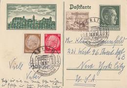 DR Ganzsache Minr. P272 Zfr. Minr.513,519,651 SST Berlin 20.4.39 Gel. In USA - Deutschland