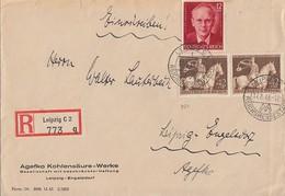 DR R-Brief Mif Minr.2x 854,856 Leipzig 17.8.43 - Briefe U. Dokumente