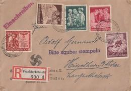 DR R-Brief Mif Minr.863,869-872 Frankfurt 28.2.44 - Briefe U. Dokumente