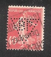 Perfin/perforé/lochung France No 194 BP  Société Générale Des Huiles De Pétrole - France