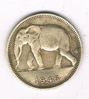 1 FRANC 1946  BELGISCH CONGO /2238/ - 1945-1951: Régence