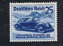 1939 17. Int. Automobilausstellung Mi DR 688 Sn DE B136 Yt DR 629 Sg DR 676 Mit Gummierung Mit Falz - Gebraucht