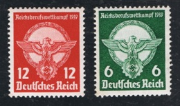 1939 4. Apr. Reichsberufswettkampf Mi 689 - 90 Sn 490 - 91 Yt 630 - 31 Sg 677 - 78 AFA 684 - 85 Gummierung Und Falz - Used Stamps