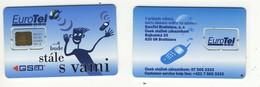 SLOVAKIA___very Early Slovak GSM SIM Carte Avec Puce Plug-in___EuroTel___rare Chip Modul - Slovaquie