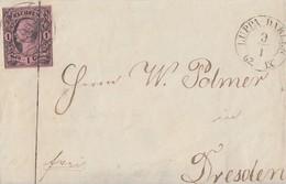Sachsen Briefvorderseite EF Minr.9 Nr.-St. 93 Luppa Dahlen 9.1.62 - Sachsen