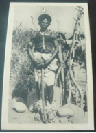 AUTHENTIC ANCIENT NEW  POSTALCARD OF MEN CUNAMA IN ERITREA./.AUTENTICA CARTOLINA NUOVA  DI GUERRIERO - Erythrée