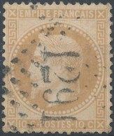 1867 - No Mi 27, Yt 28 -  10 C - Oblitere 1291 - 1863-1870 Napoléon III Lauré