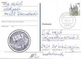 Germany 2002 Feldpost 1371 Kabul Camp Warehouse ISAF Afghanistan Military Postcard - Afghanistan