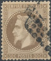 1867 - No Mi 29, Yt 30 -  30 C - Oblitere - 1863-1870 Napoléon III Lauré