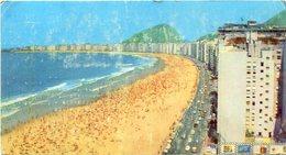 COPACABANA, RIO DE JANEIRO, BRASIL. POSTAL CIRCULADA 1973 CON BANDELETA PARLANTE ARGENTINA - LILHU - Copacabana