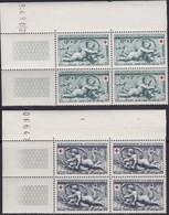 France  .   Yvert    .    937/938  Blocs De 4     .   **  .    Neuf  SANS  Charniere  .   /   .    MNH - Neufs