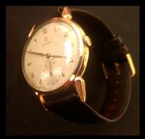 Cyma Cymaflex Montre Par Homme - Années 50 - Plaqué Or - Fonctionne - Diamètre 38mm - Watches: Old