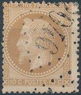 1870 - No Mi 33, Yt 36 -  10 C - Oblitere - 1863-1870 Napoléon III Lauré