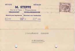 Grammont ,( Geeraardsbergen ) , Carte Publicité,  M. Steppe ,métaux , Metalen - Geraardsbergen