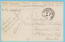 G.B. 01 - CPA Avec Cachet De Franchise - N° 16 - Ambulance Néerlandaise De Neuilly (75) - Marcophilie (Lettres)