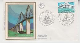FRANCE 1975 BRIDGE PONT DE SAINT NAZAIRE FDC PREMIER JOUR - Ponti