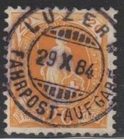 Schweiz, 29.10.1884, Luzern, 66A,  Stehende Helvetia, Vollstempel, Siehe Scan! - Used Stamps