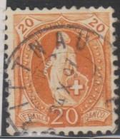 Schweiz,  24.10.1897, Brittnau, 66C, Stehende Helvetia, Vollstempel, Siehe Scan! - 1882-1906 Coat Of Arms, Standing Helvetia & UPU