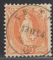 Schweiz, 13.2.1904, Ebikon, 66E, Stehende Helvetia, Vollstempel, Siehe Scan! - 1882-1906 Coat Of Arms, Standing Helvetia & UPU
