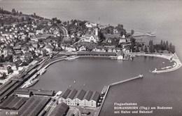 Flugaunahme Romanshorn Am Bodensee Mit Hafen Und Bahnhof (pk56929) - Suisse