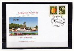 BRD, 2011, Ganzsachen-Umschlag Mit Michel 2484, 2794 Und Erstverwendungsstempel, Bundesgartensch. Koblenz - [7] République Fédérale