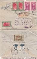 LETTRE COVER. MADAGASCAR. RECOMMANDÉ 1946 DIEGO-SUAREZ PAR AVION POUR PARIS. 8 TIMBRES 42,90F - Covers & Documents